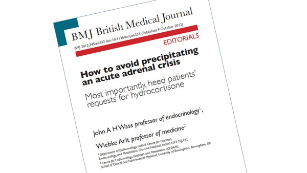 How to avoid precipitating an acute adrenal crisis