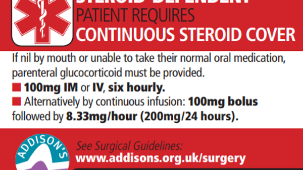 ADSHG drugs chart steroid alert stickers